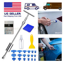 Paintless Dent Repair Kit 2-In-1T-Bar Puller&Tab Hail Ding Removal Tools 22Pcs