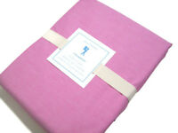 Pottery Barn Kids Pink Chambray Cotton Full Queen Duvet Cover Discolored Thread