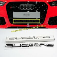 QUATTRO GRILLE EMBLEM BADGE LOGO FOR AUDI A3 A4 A5 A6 A7 A8 RS7 RS6 RS5 RS4 A1 T
