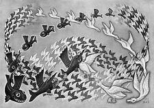 Escher # 34 cm 35x50 Poster Stampa Grafica Printing Digital Fine Art papiarte