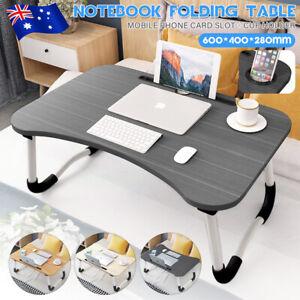 Folding Laptop Stand Holder Portable Study Table Bed Foldable Computer Desk AU