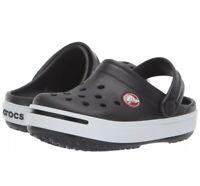 Crocs KIDS Unisex Size c8/c9 Crocband II  Kids Black/White 11990-066 NWT