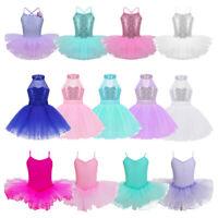Kids Ballerina Girls Ballet Dance Leotard Dress Gymnastics Tutu Skirt Dancewear