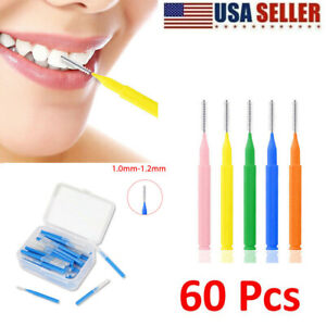 60pcs/set Interdental Brush Dental Floss Teeth Oral Clean Hygiene Toothpick USA