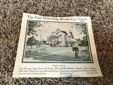 Vintage Van Dorn Iron Works Circa 1900's Cleveland Private Mailing Card Postcard