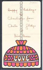 Anita Loos - Christmas / Holiday Card Signed
