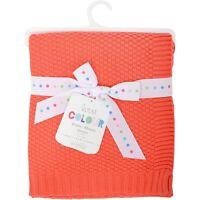 Silvercloud 100% Cotton Baby Blanket Babies Cot Wrap Boys Girls Gift 4 Colours