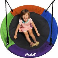"""40"""" Outdoor Round Tree Swing for Kids Saucer for Kids Large Tree Ufo Swings"""