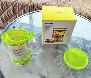 Teavana Perfectea 16 Ounce Tea Maker in green, never used
