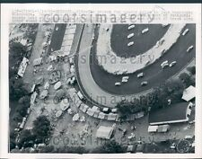 1962 Aerial Race Track Outgamie County Fair Wisconsin Press Photo