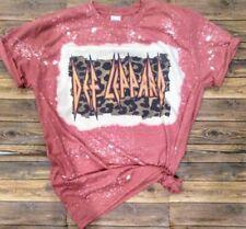 Def Leppard Bleached Tshirt/Bleached Shirt/Rock n Roll/Sizes S, M, L, Xl