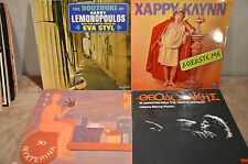 Lot of (4) Greek Music Vinyl Records BOUZOUKI Imported from Greece lp's