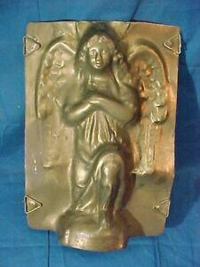Vintage KNEELING ANGEL Figural TIN CHOCOLATE Candy MOLD