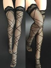 Female Black Stockings Net Stocking 1/6 Clothing Fit 12'' Phicen Action Body Toy