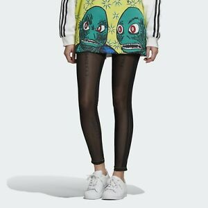 Adidas Originals X Fiorucci Sheer Leggings Women's Black Activewear Sportswear