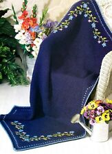 Striking Midnight Floral Afghan/Crochet Pattern Instructions Only
