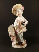Rare Vintage Porcelain Hand Painted Doll Figurine Newcomb College in New Orleans