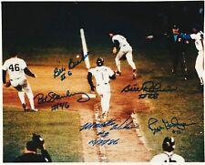 MOOKIE WILSON BILL BUCKNER ROBINSON GEDMAN STANLEY   autographed 8x10 photo RP