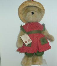 Aprilmae McVeggie 2004 Boyds Bears 16in dressed teddy bear straw hat 904240