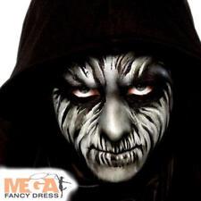 Black Make Up Palette Fancy Dress Halloween Scary Kids Adults Costume Face Paint