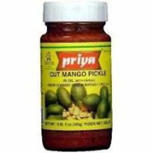 Priya Traditional Indian Original Mango Pickle 300g Pack of 3/6