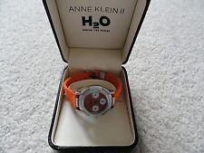 Anne Klein II H2O Water Resistant Quartz Ladies Watch - Sub dials - Orange Band