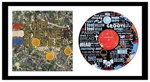 SPECIAL - STONE ROSES - MEMORABILIA - VINYL RECORD ART + Cover - Ideal Gift