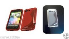 HTC Incredible s S710 Clear Red S Line Silicone Gel Case Cover Stocking Filler