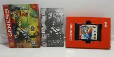 Authentic Cib Earth Worm Jim Sega Genesis. Cartridge, Manual, and Cardboard case