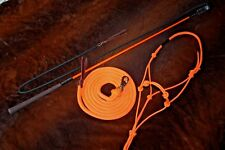 THOMEY HORSE TRAINING STICK, HALTER, & LEAD, ANDERSON, PARELLI ~ NEON ORANGE