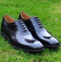 Mens Dress Shoes Black Oxfords Formal Office Wear Handmade Calf Leather Shoes