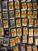 80s/90s 7 Pack Lots Of 100 Or More Unopened Baseball/Basketball/Football Cards