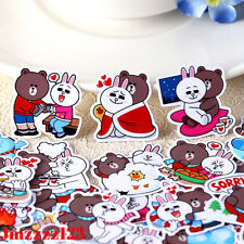 Line Friends Stickers Brown Bear Cony Rabbit Vinyl Pack (x10) - Decals