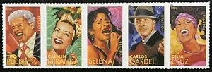 2011 #4497-4501 Forever - LATIN MUSIC LEGENDS - Strip of 5 Stamps - Mint NH