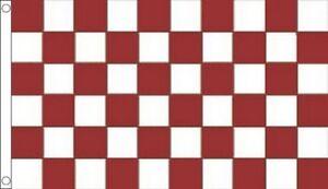 MAROON and WHITE CHECKERED FLAG 5' x 3' Galway Westmeath County GAA Football