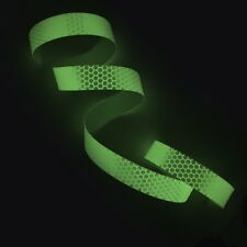 "1 Foot - 2"" / 50mm Honeycomb Cyflect Sew On Tape Reflective + Photoluminescent"
