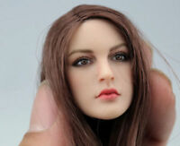 """KIMI TOYS 1/6 Female Head Sculpt Model Toy KT005 Long Hair For 12"""" Action Figure"""