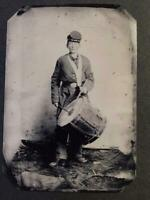 Sixth-Plate Civil War Drummer Tintype C2338RP