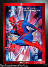 Nero Incorniciato SPIDER MAN di vetro - 3D per bambini foto 365mm x 465mm
