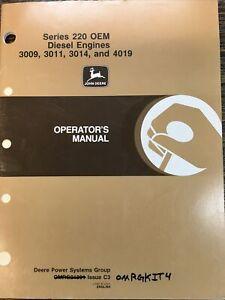 JOHN DEERE Series 220 OEM Diesel Engines 3009 3011 3014 & 4019 OMRG21891 C3
