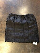 Rochas Black  Embroidered Detailed Silk  Cotton skirt 40 4