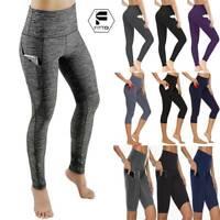 Women High Waist Yoga Pants With Pocket Capri Fitness Running Gym Sport Leggings