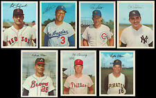 1967 DEXTER PRESS VINTAGE BASEBALL 5X7 CARDS LOT OF 7 WITH YAZ BUNNING SANTO HOF