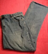 Lane Bryant Women's Denim Jeans Plus Sz 24W Bootcut Genius Fit Blue Stretch