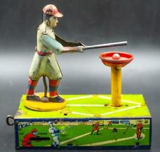 Vintage 1920's Selrite HOME RUN KING Wind-Up Baseball Toy Game. original ball