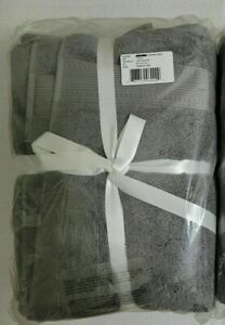 Charisma 100% Hygrocotton Bath Towel Gunmetal Grey 2PK COSTCO 1226303 NEW SEALED