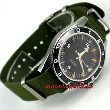 41mm debert black dial orange hands 21 jewels miyota Automatic mens Watch D2