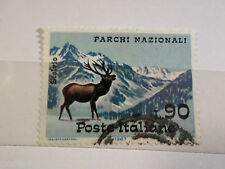 ITALIE ITALIA 1967, timbre 966, ANIMAUX, CERF, oblitéré, DEER, STAMP