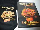 Kosta Boda Kjell Engman Rock on Fire T-shirt Lg & DVD - NWOT