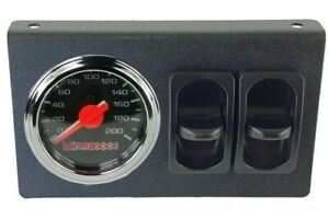 Air Ride Suspension Dual Needle Air Gauge Panel 200psi 2 Paddle Switches Control